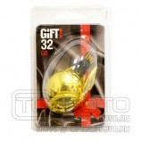 Накопитель 32GB USB Gift! U-001 Gold VW со стразами